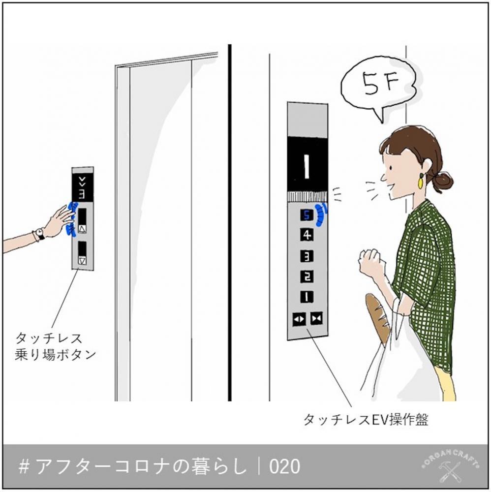 タッチレスで楽々!感染リスクを抑えるエレベーター